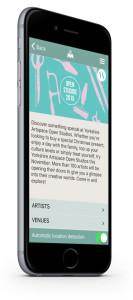 Open Studios app home page