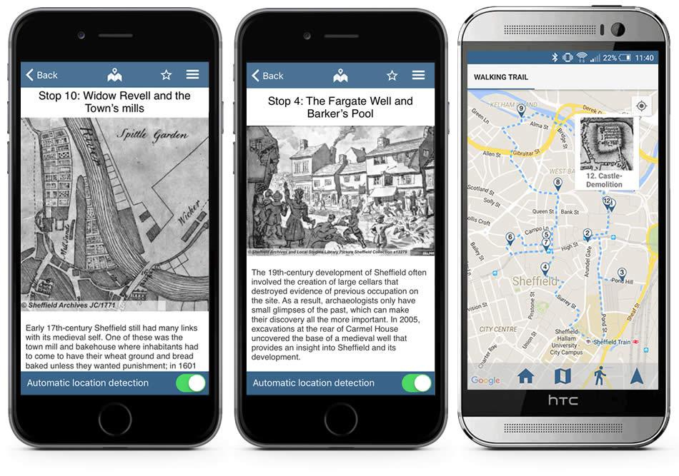 Sheffield Lives Walking Trail Situate App