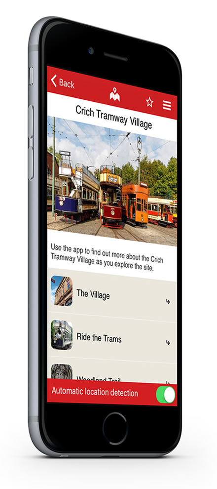 Crich Tramway Village Situate app