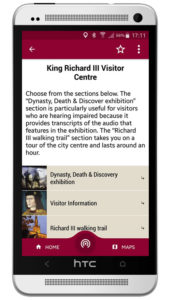 King Richard III visitor guide app