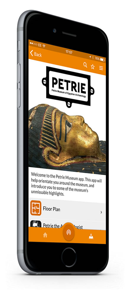The Petrie Museum Situate app