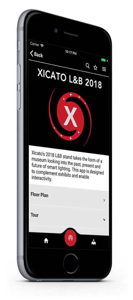 Xicato Light & Building 2018 app