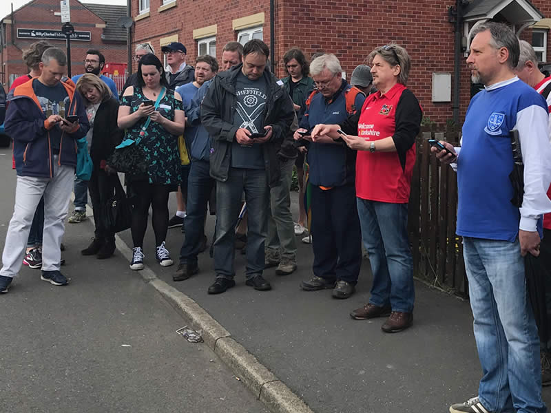 Using the app on the Sheffield: Home of Football walking tour