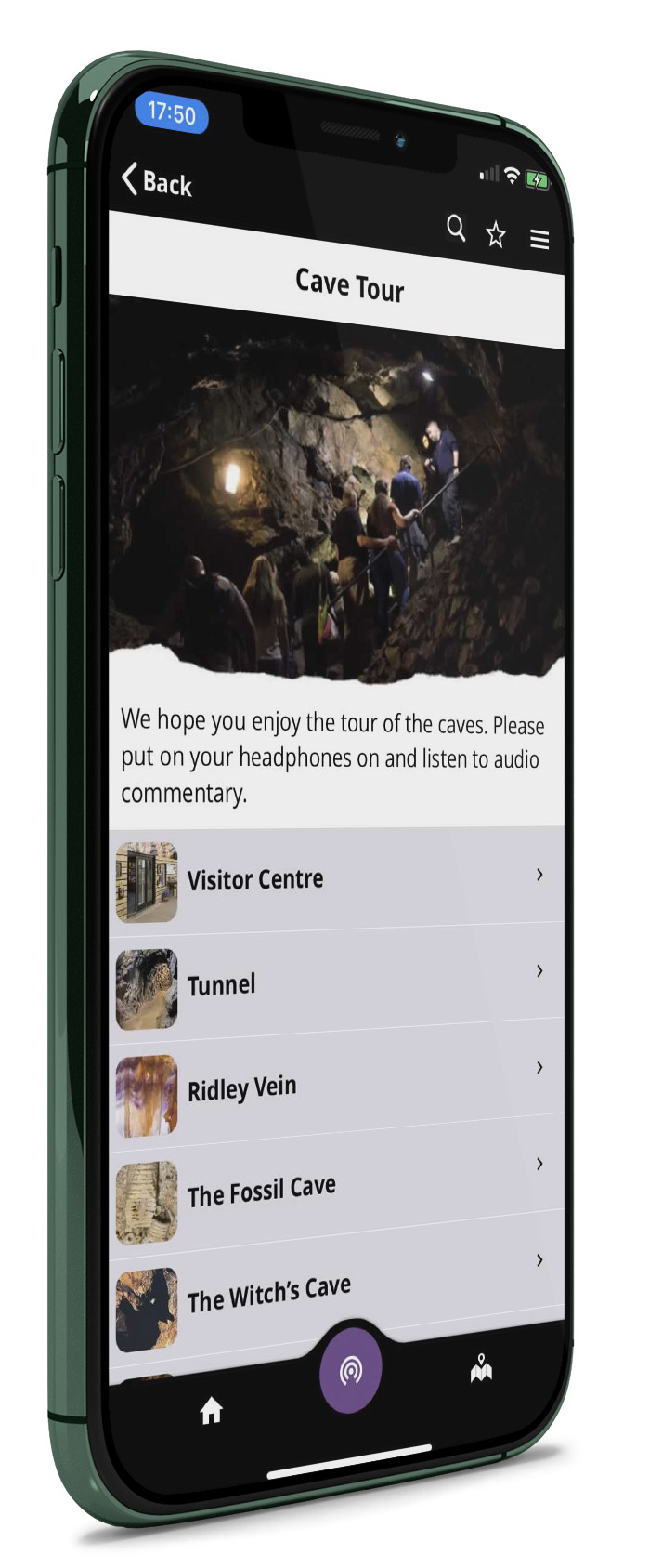 Treak Cliff Cavern app